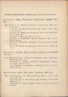 Wybór recenzji za okres 1.I.1971-30.VI.1971