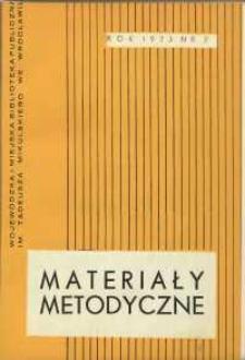 Materiały metodyczne : kwartalnik, R. XVIII, 1973, nr 2