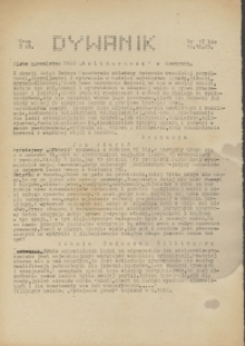 """Dywanik : pismo niezależne członków NSZZ """"Solidarność"""" w Kowarach, 1983, nr 12 bis"""