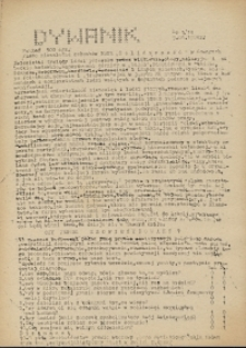 """Dywanik : pismo niezależne członków NSZZ """"Solidarność"""" w Kowarach, 1984, nr 1 (14)"""