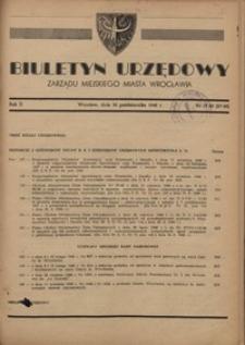 Biuletyn Urzędowy Zarządu Miejskiego Miasta Wrocławia, R. 2, 1948, nr 19/20 (27-28) [30 października]