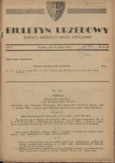 Biuletyn Urzędowy Zarządu Miejskiego Miasta Wrocławia, R. 2, 1948, nr 23 (31) [15 grudnia]