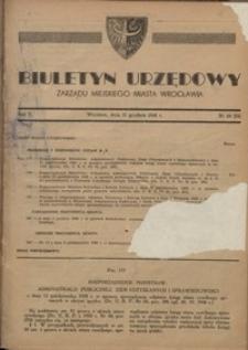 Biuletyn Urzędowy Zarządu Miejskiego Miasta Wrocławia, R. 2, 1948, nr 24 (32) [31 grudnia]