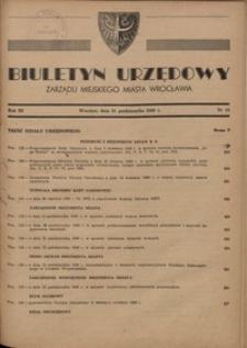Biuletyn Urzędowy Zarządu Miejskiego Miasta Wrocławia, R. 3, 1949, nr 10 [31 października]