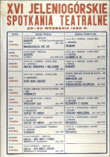 XVI Jeleniogórskie Spotkania Teatralne [Dokument życia społecznego]