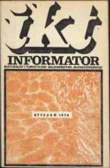 Informator Kulturalny i Turystyczny Województwa Jeleniogórskiego, 1979, nr 1