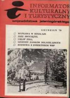 Informator Kulturalny i Turystyczny Województwa Jeleniogórskiego, 1979, nr 12