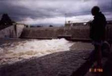 Jelenia Góra - Cieplice - powódź - tama [Dokument ikonograficzny]