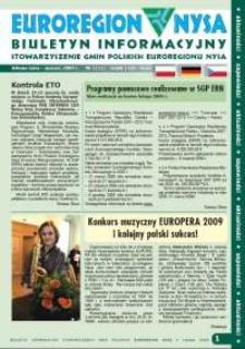 Euroregion Nysa : biuletyn informacyjny Stowarzyszenia Gmin Polskich Euroregionu Nysa, 2009, nr 1 (53)