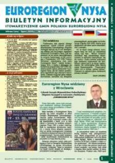 Euroregion Nysa : biuletyn informacyjny Stowarzyszenia Gmin Polskich Euroregionu Nysa, 2009, nr 5 (57)