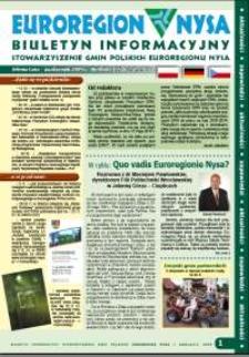 Euroregion Nysa : biuletyn informacyjny Stowarzyszenia Gmin Polskich Euroregionu Nysa, 2009, nr 8 (60)