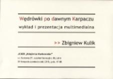 Zbigniew Kulik - Wędrówki po dawnym Karpaczu : wykład i prezentacja multimedialna - afisz [Dokument życia społecznego]