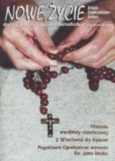 Nowe Życie: dolnośląskie pismo katolickie: religia, kultura, społeczeństwo, 1996, nr 10 (265)