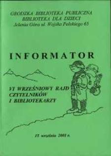 VI Wrześniowy Rajd Czytelników i Bibliotekarzy - informator