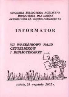 VII Wrześniowy Rajd Czytelników i Bibliotekarzy - informator