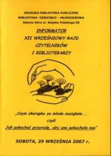 XII Wrześniowy Rajd Czytelników i Bibliotekarzy - informator