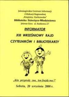 XIII Wrześniowy Rajd Czytelników i Bibliotekarzy - informator