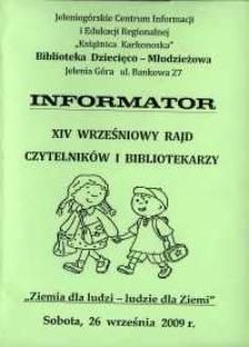 XIV Wrześniowy Rajd Czytelników i Bibliotekarzy - informator
