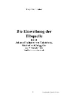 Die Einweihung der Elbquelle durch Johann Freiherrn von Talemberg, Bischof zu Königgrätz [Dokument elektroniczny]