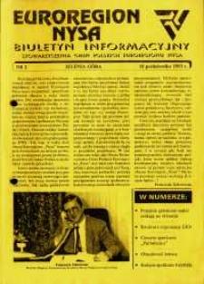 Euroregion Nysa : biuletyn informacyjny Stowarzyszenia Gmin Polskich Euroregionu Nysa, 1993, nr 2