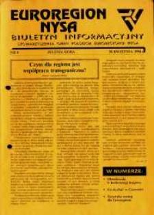 Euroregion Nysa : biuletyn informacyjny Stowarzyszenia Gmin Polskich Euroregionu Nysa, 1994, nr 8