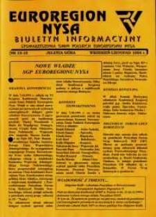 Euroregion Nysa : biuletyn informacyjny Stowarzyszenia Gmin Polskich Euroregionu Nysa, 1994, nr 13-15