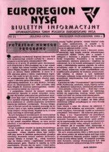 Euroregion Nysa : biuletyn informacyjny Stowarzyszenia Gmin Polskich Euroregionu Nysa, 1995, nr 21