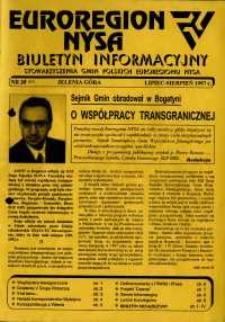 Euroregion Nysa : biuletyn informacyjny Stowarzyszenia Gmin Polskich Euroregionu Nysa, 1997, nr 31