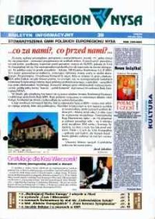 Euroregion Nysa : biuletyn informacyjny Stowarzyszenia Gmin Polskich Euroregionu Nysa, 1998-99, nr 39