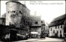 Hirschberg i. Schles. Eingang von der Promenade zur dunklen Burgstrasse [Dokument ikonograficzny]