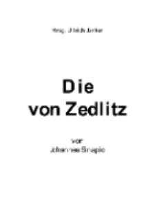 Die von Zedlitz [Dokument elektroniczny]