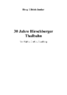 30 Jahre Hirschberger Thalbahn [Dokument elektroniczny]