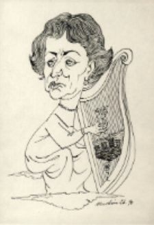 Karykatura harfistki [Dokument ikonograficzny]