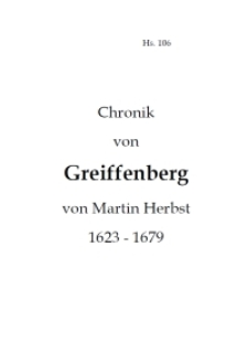Chronik von Greiffenberg von Martin Herbst 1623-1679 [Dokument elektroniczny]