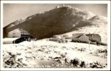 Karkonosze - schroniska pod Śnieżką zimą [Dokument ikonograficzny]