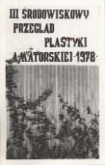 III Środowiskowy Przegląd Plastyki Amatorskiej w Obornickim Ośrodku Kultury, maj 1978 r. (fot. 1) [Dokument ikonograficzny]