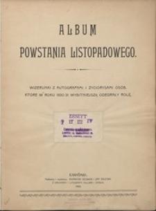 Album Powstania Listopadowego : wizerunki z autografami i życiorysami osób, które w roku 1830/31 wybitniejszą odegrały rolę