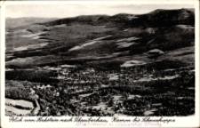 Blick vom Hochstein nach Schreiberhau, Kamm bis Schneekoppe [Dokument ikonograficzny]