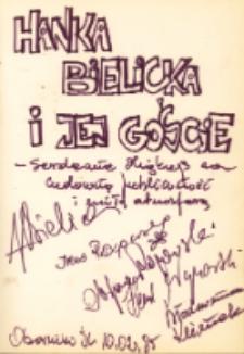 Autograf Hanki Bielickiej i jej gości, 10.02.1985 r. [Dokument ikonograficzny]