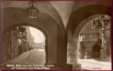 Görlitz, Blick aus den Schonhof - Lauben auf Obermarkt und Rathaustreppe [Dokument ikonograficzny]