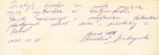 Autograf malarza Stanisława Babczyńskiego udzielony dla Koła Gospodyń Wiejskich w Piekarach, 5.02.1991 r. [Dokument ikonograficzny]
