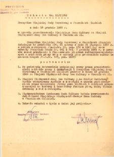 Uchwała Prezydium Miejskiej Rady Narodowej w Obornikach Śląskich w sprawie przemianowania Miejskiego Domu Kultury na Miejski Międzyzakładowy Dom Kultury w Obornikach Śląskich, 18.12.1966 r.