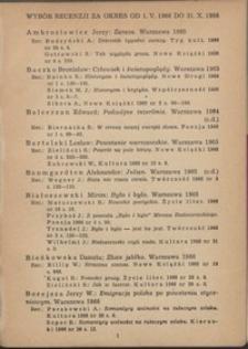 Wybór recenzji za okres 1.V.1966-31.X.1966
