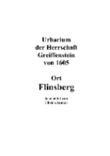 Urbarium der Herrschaft Greiffenstein von 1605 Ort Flinsberg [Dokument elektroniczny]