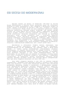 Od secesji do modernizmu 1900-1950 [Dokument elektroniczny]