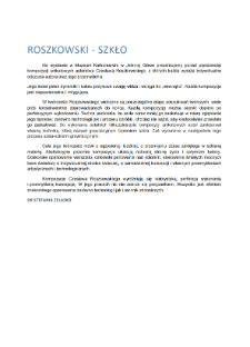 Roszkowski - Szkło [Dokument elektroniczny]