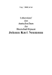 Lebenslauf des Amtschreibers der Herrschaft Kynast Johann Karl Neumann [Dokument elektroniczny]