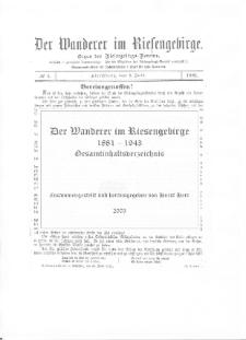 Der Wanderer im Riesengebirge 1881-1943 [Dokument elektroniczny]