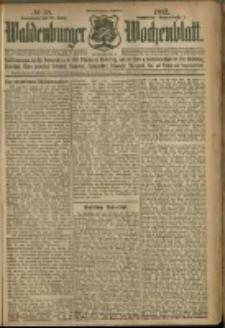 Waldenburger Wochenblatt, Jg. 58, 1912, nr 38