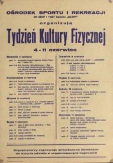 Tydzień Kultury Fizycznej : 4-11 czerwiec